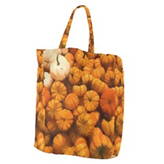 Pumpkins Tiny Gourds Pile Giant Grocery Tote