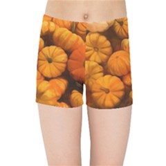 Pumpkins Tiny Gourds Pile Kids Sports Shorts