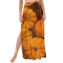 Pumpkins Tiny Gourds Pile Maxi Chiffon Tie Up Sarong