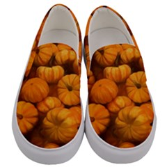 Pumpkins Tiny Gourds Pile Men s Canvas Slip Ons