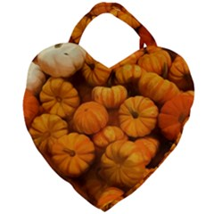 Pumpkins Tiny Gourds Pile Giant Heart Shaped Tote