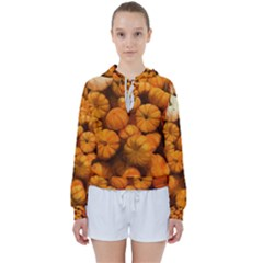 Pumpkins Tiny Gourds Pile Women s Tie Up Sweat