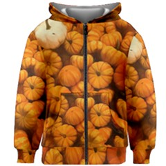 Pumpkins Tiny Gourds Pile Kids Zipper Hoodie Without Drawstring