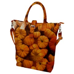 Pumpkins Tiny Gourds Pile Buckle Top Tote Bag