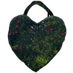 Apple Tree Close Up Giant Heart Shaped Tote by bloomingvinedesign