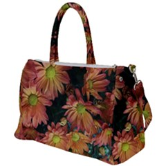 Cream And Pink Fall Flowers Duffel Travel Bag