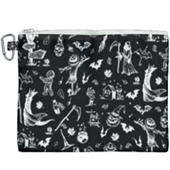Halloween Pattern Canvas Cosmetic Bag (xxxl) by Valentinaart
