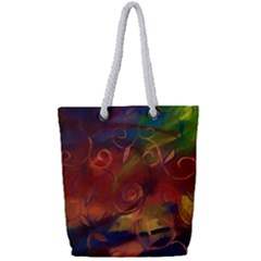 Abstract Fall Swirls Full Print Rope Handle Tote (small)