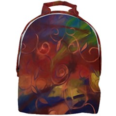 Abstract Fall Swirls Mini Full Print Backpack by bloomingvinedesign