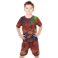 Abstract Fall Swirls Kid s Set