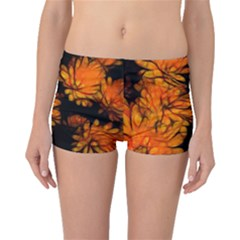Yellow Flower Abstract Boyleg Bikini Bottoms