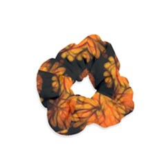 Yellow Flower Abstract Velvet Scrunchie by bloomingvinedesign
