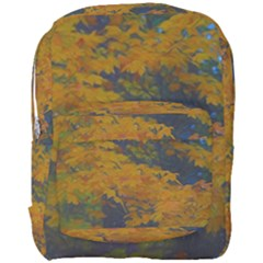 Yellow Fall Leaves And Branches Full Print Backpack by bloomingvinedesign