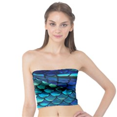 Mermaid Print Tube Top