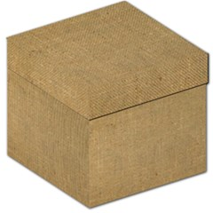 Burlap Coffee Sack Grunge Knit Look Storage Stool 12   by dressshop