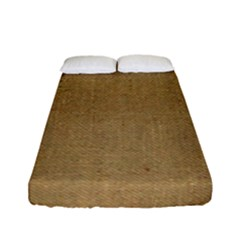 Burlap Coffee Sack Grunge Knit Look Fitted Sheet (full/ Double Size) by dressshop