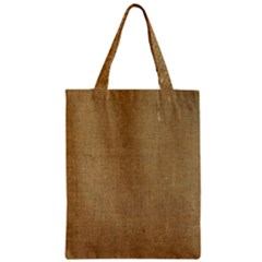 Burlap Coffee Sack Grunge Knit Look Zipper Classic Tote Bag by dressshop