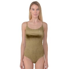 Burlap Coffee Sack Grunge Knit Look Camisole Leotard  by dressshop