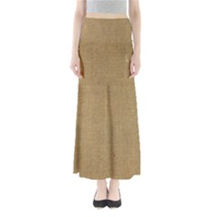 Burlap Coffee Sack Grunge Knit Look Full Length Maxi Skirt by dressshop