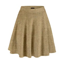 Burlap Coffee Sack Grunge Knit Look High Waist Skirt by dressshop