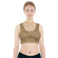 Burlap Coffee Sack Grunge Knit Look Sports Bra With Pocket by dressshop