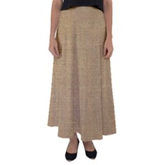 Burlap Coffee Sack Grunge Knit Look Flared Maxi Skirt by dressshop