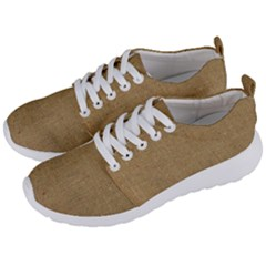 Burlap Coffee Sack Grunge Knit Look Men s Lightweight Sports Shoes by dressshop
