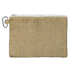 Burlap Coffee Sack Grunge Knit Look Canvas Cosmetic Bag (xl)