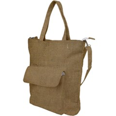 Burlap Coffee Sack Grunge Knit Look Shoulder Tote Bag by dressshop
