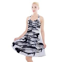Carp Fish Halter Party Swing Dress