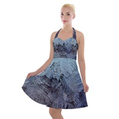 Window Frost Halter Party Swing Dress