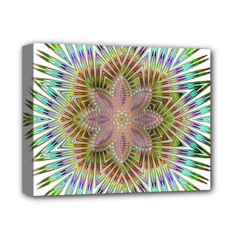 Star Flower Glass Sexy Chromatic Symmetric Deluxe Canvas 14  X 11  (stretched) by Jojostore