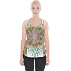 Star Flower Glass Sexy Chromatic Symmetric Piece Up Tank Top