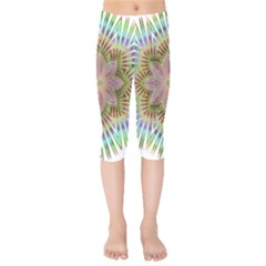 Star Flower Glass Sexy Chromatic Symmetric Kids  Capri Leggings