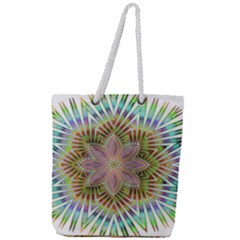 Star Flower Glass Sexy Chromatic Symmetric Full Print Rope Handle Tote (large) by Jojostore