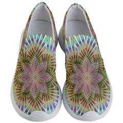 Star Flower Glass Sexy Chromatic Symmetric Women s Lightweight Slip Ons by Jojostore
