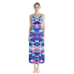 Digital Art Art Artwork Abstract Button Up Chiffon Maxi Dress