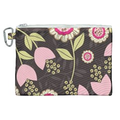 Flowers Wallpaper Floral Decoration Canvas Cosmetic Bag (xl)