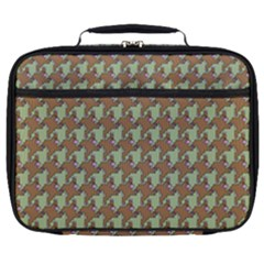 Barrel Of Monkey's Houndstooth Pattern Bags Full Print Lunch Bag by emilyzragz