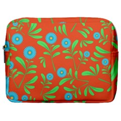 Background Texture Seamless Flowers Make Up Pouch (large)