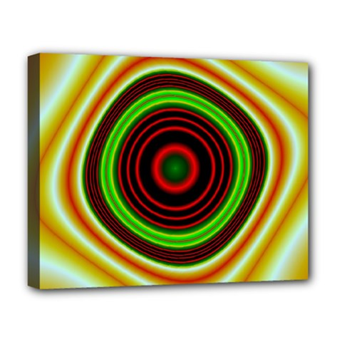 Digital Art Background Yellow Red Deluxe Canvas 20  X 16  (stretched) by Sapixe