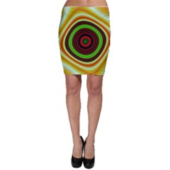Digital Art Background Yellow Red Bodycon Skirt by Sapixe