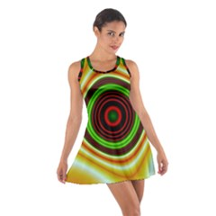 Digital Art Background Yellow Red Cotton Racerback Dress by Sapixe