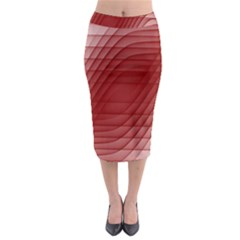 Background Light Glow Abstract Art Midi Pencil Skirt by Sapixe