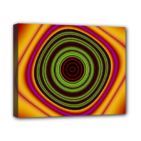 Digital Art Background Yellow Red Canvas 10  X 8  (stretched) by Sapixe