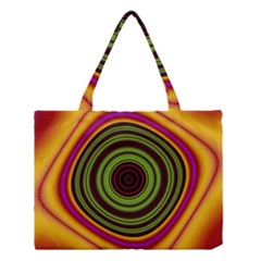 Digital Art Background Yellow Red Medium Tote Bag by Sapixe