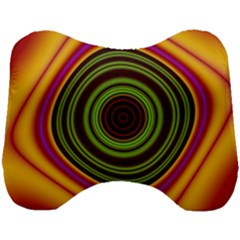 Digital Art Background Yellow Red Head Support Cushion by Sapixe