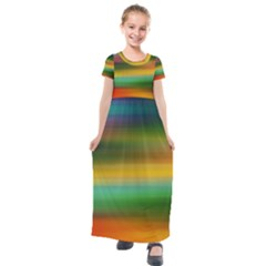 Art Blur Wallpaper Artistically Kids  Short Sleeve Maxi Dress by Sapixe