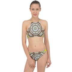 Pretty As A Flower Everywhere You Can See Racer Front Bikini Set by pepitasart