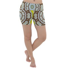 Pretty As A Flower Everywhere You Can See Lightweight Velour Yoga Shorts